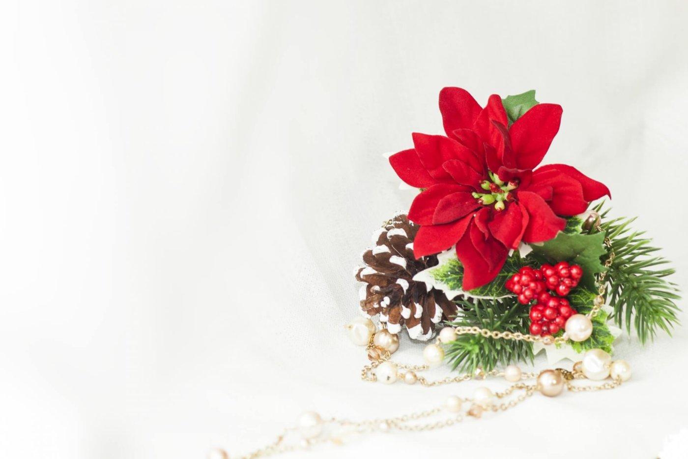 クリスマスプレゼントに花