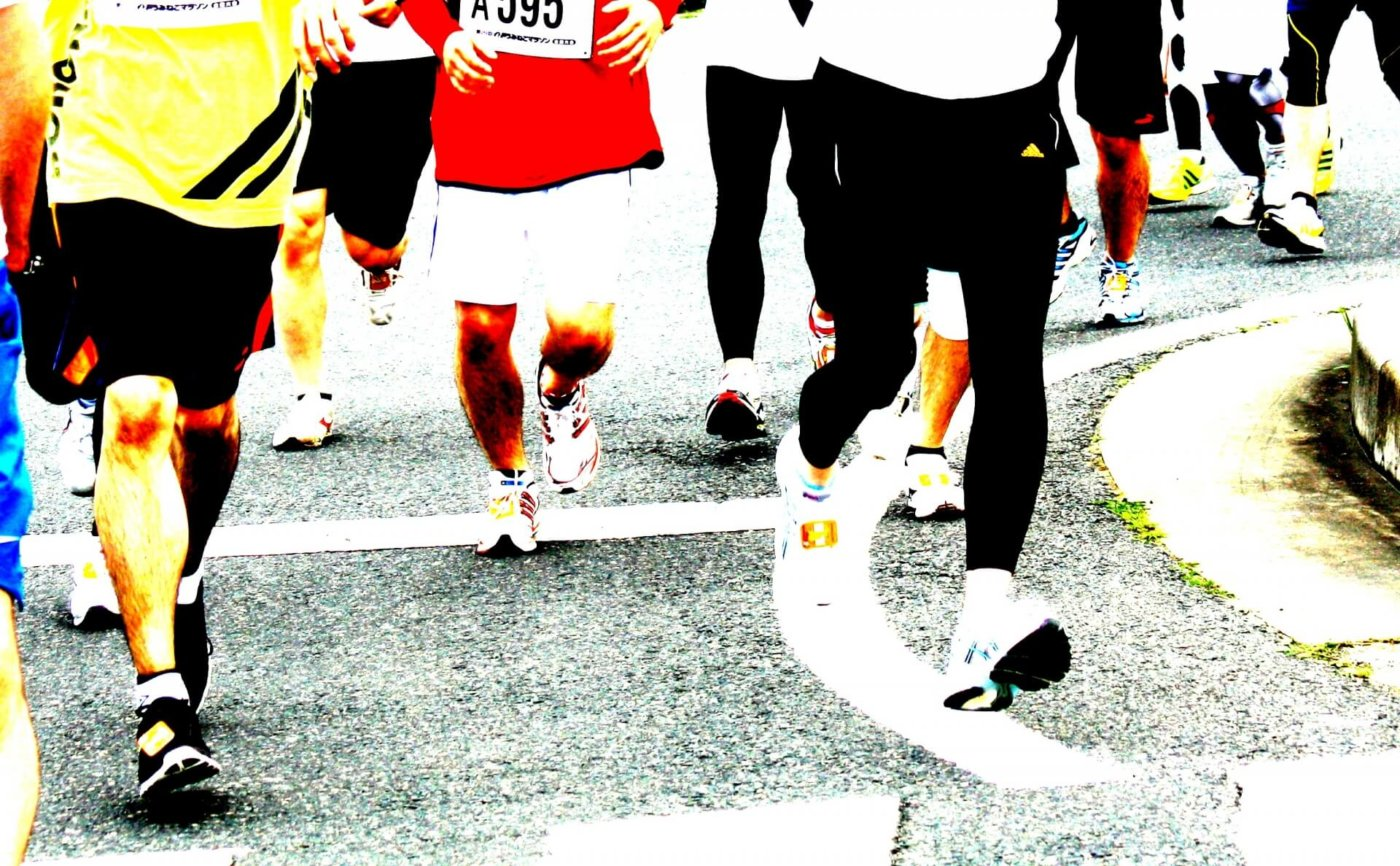 マラソンでは5km毎のラップタイムが目安