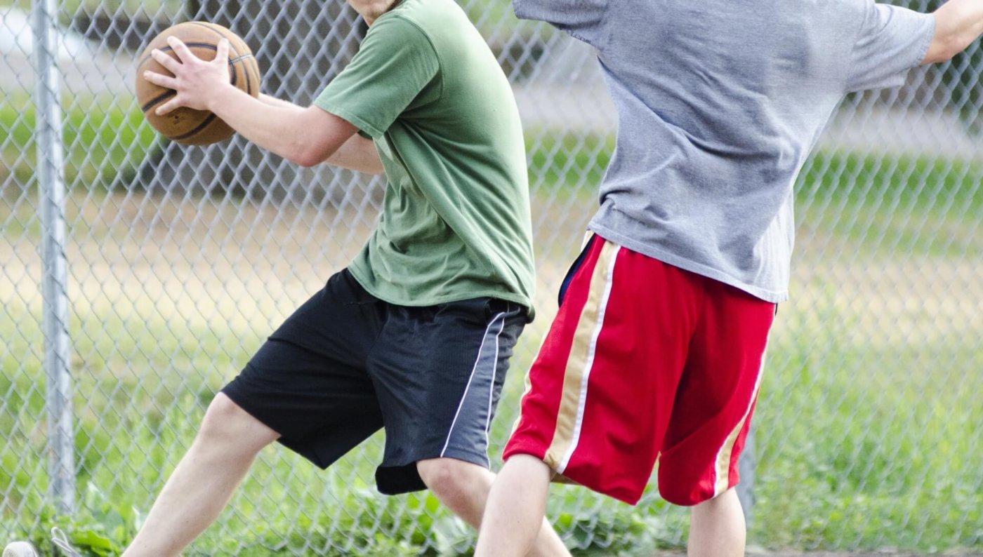 バスケの練習「一対一」