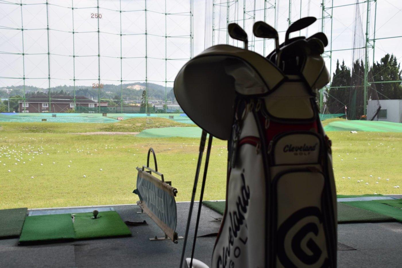 クラブケースを持ってゴルフの練習に行こう!