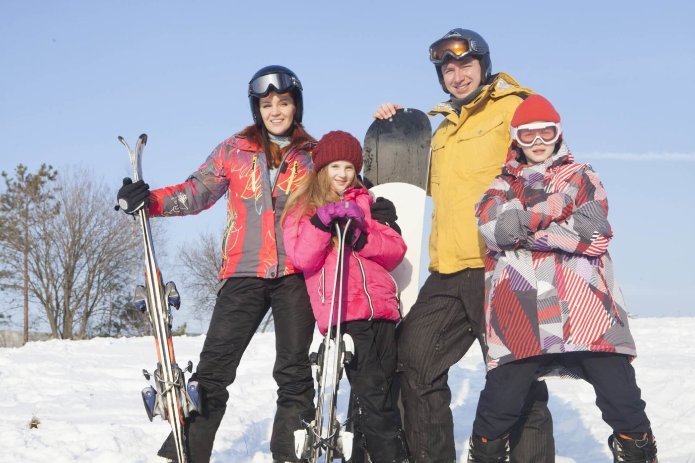 スキーを日帰りで楽しもう!