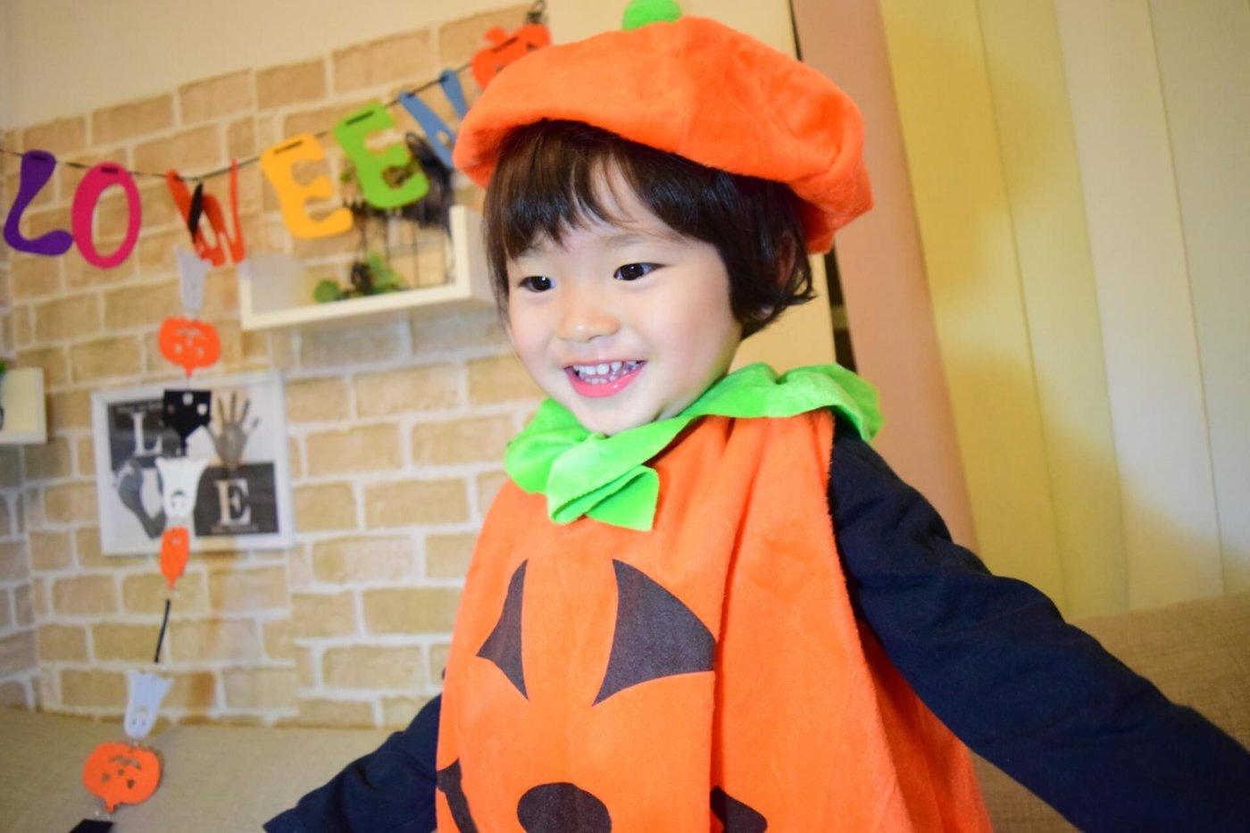 手作り♡ハロウィンでの子供の衣装