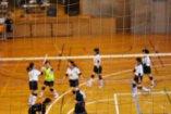 バレーボールの練習風景